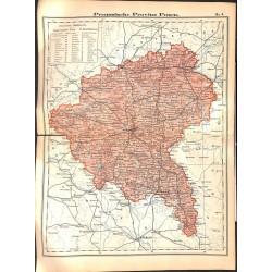 0182 Map/Print- Prussia Posen German Empire - No.08Vintage German Map Print 1902 size:26x34cm