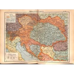 0193 Map/Print- Hungary Austria Ungarn Österreich - No.24Vintage German Map Print 1902 size:26x34cm