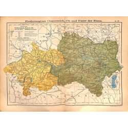 0196 Map/Print- Österreich Enns Austria  - No.27Vintage German Map Print 1902 size:26x34cm