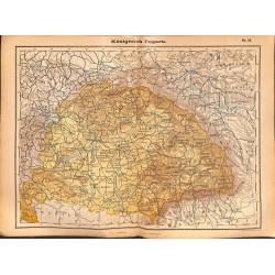 0201 Map/Print- Kingdom Hungary Ungarn Europe - No.32Vintage German Map Print 1902 size:26x34cm