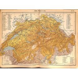 0202 Map/Print- Swiss switzerland Schweiz Europe Helvetia - No.33Vintage German Map Print 1902 size:26x34cm