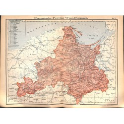 0240 Map/Print- West Prussia German Reich - No.07Vintage German Map Print 1902 size:26x34cm