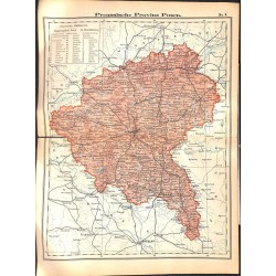 0241 Map/Print- Prussia Posen German Empire - No.08Vintage German Map Print 1902 size:26x34cm