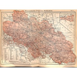 0244 Map/Print- Prussia Schelsien Silesia German Reich - No.11Vintage German Map Print 1902 size:26x34cm