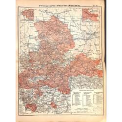 0245 Map/Print- Prussia Sachsen Saxony German Reich - No.12Vintage German Map Print 1902 size:26x34cm