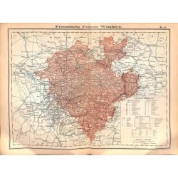 0248 Map/Print- Purssia Westfalen Westfalia German Reich - No.15Vintage German Map Print 1902 size:26x34cm