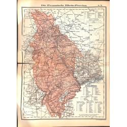 0249 Map/Print- Prussia Rhein German Reich - No.16Vintage German Map Print 1902 size:26x34cm