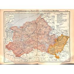 0251 Map/Print- Mecklenburg-Schwerin Strelitz Grossherzogtum German Reich - No.20Vintage German Map Print 1902