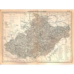 0257 Map/Print- Mohariva Silesia Möhmen Mähren Europe German Reich - No.26Vintage German Map Print 1902 size:26x34cm