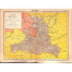 0259 Map/Print- Austria Salzburg - No.28Vintage German Map Print 1902 size:26x34cm