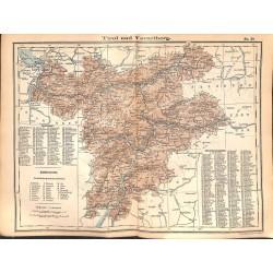 0260 Map/Print- Austria Tirol Vorarlbegr - No.29Vintage German Map Print 1902 size:26x34cm