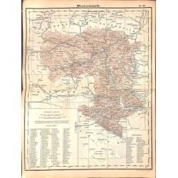 0261 Map/Print- Austria Steiermark Graz Schwarzenegger - No.30Vintage German Map Print 1902 size:26x34cm
