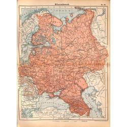 0267 Map/Print- Russia Europa Russland  - No.36Vintage German Map Print 1902 size:26x34cm