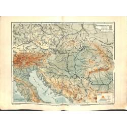 1555 print map 1902 - AUSTRIA - HUNGARY 1:4.000.000size:44 x 32 cm