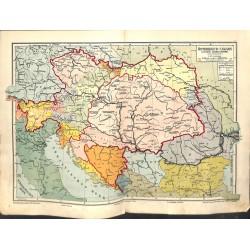 1556 print map 1902 - AUSTRIA - HUNGARY NORTH BALKAN 1:4.000.000size:44 x 32 cm