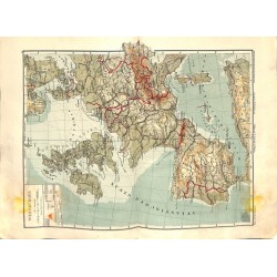 1560 print map 1902 - WEST EUROPE FRANCE GREAT BRITAIN SPAIN 1:8.000.000size:44 x 32 cm