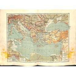 1561 print map 1902 - ITALY LEVANTE GREECE TURKEY 1:8.000.000size:44 x 32 cm