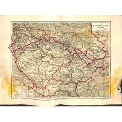1562 print map 1902 - SUDETEN BOHEMIA MOHRAVIA SILESIA 1: 500.000size:44 x 32 cm
