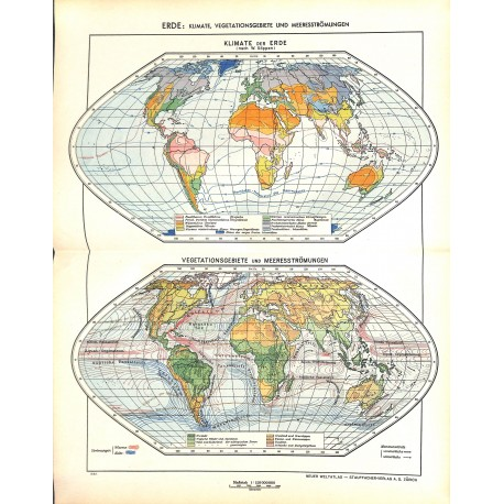 1704 map/print-EARTH CLIMATE printed: 1954