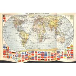 1707 map/print-EARTH POLITIC printed: 1954
