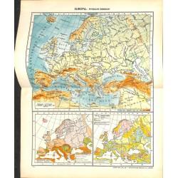 1709 map/print-EUROPE printed: 1954