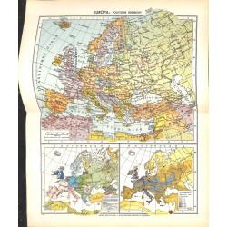 1710 map/print-EUROPE printed: 1954