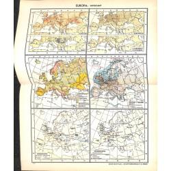 1712 map/print-EUROPE ECONOMY printed: 1954