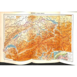 1714 map/print-SWITZERLAND printed: 1954