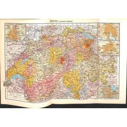 1715 map/print-SWITZERLAND printed: 1954