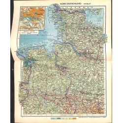 1719 map/print-GERMANY NORTH printed: 1954
