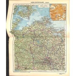 1720 map/print-GERMANY WEST printed: 1954