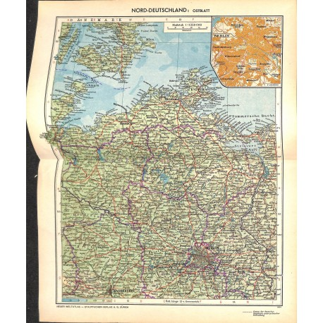 Map Of Germany To Print.1720 Map Print Germany West Printed 1954 Wartimeline Historic German Magazines
