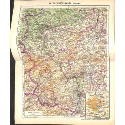 1721 map/print-GERMAN HESSE printed: 1954