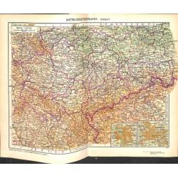 1722 map/print-GERMANY SOUTH printed: 1954