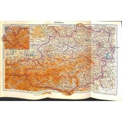 1724 map/print-AUSTRIA GRAZ VIENNA SALZBURG printed: 1954