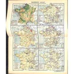 1729 map/print-FRANCE ECONOMY printed: 1954