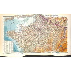 1730 map/print-FRANCE NORTH CENTRAL printed: 1954