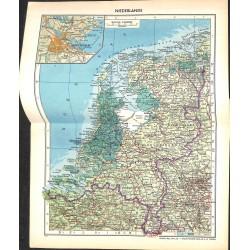 1733 map/print-NETHERLANDS printed: 1954