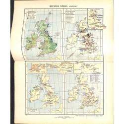 1736 map/print-BRITISH ISLES printed: 1954