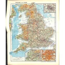 1737 map/print-ENGLAND WALES printed: 1954