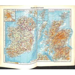 1738 map/print-IRLEAND SCOTLAND printed: 1954