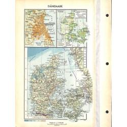 1740 map/print-DENMARK ECONOMY printed: 1954
