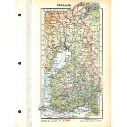 1741 map/print-FINLAND printed: 1954