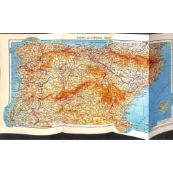 1746 map/print-SPAIN PORTUGAL NORD printed: 1954