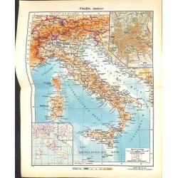 1748 map/print-ITALY SICILY  printed: 1954