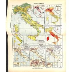1749 map/print-ITALY ECONOMY printed: 1954