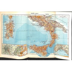 1751 map/print-ITALY SOUTH SICILY printed: 1954