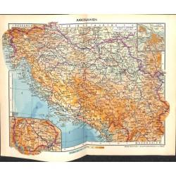 1753 map/print-ALBANIA BULGARIA printed: 1954