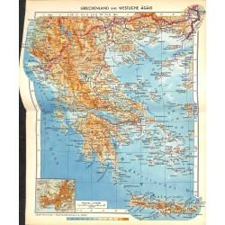 1754 map/print-GREECE WEST printed: 1954
