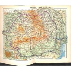 1757 map/print-ROMANIA printed: 1954